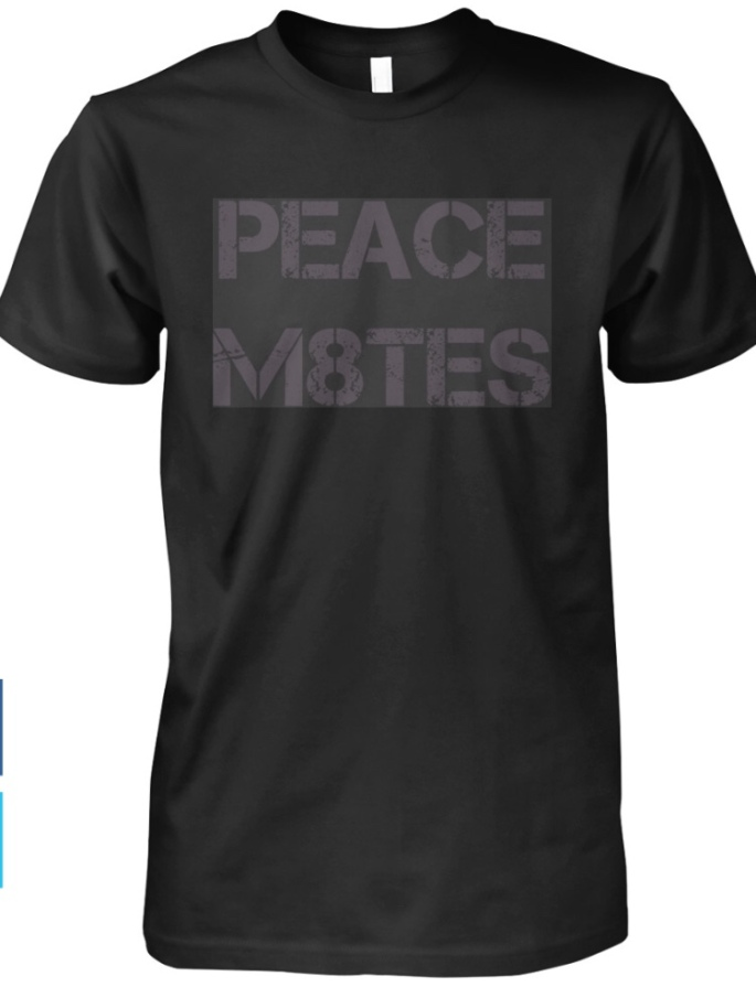 Peacem8tes - Black T-Shirt